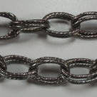 50 cm Gliederkette Aluminium Oval Ø ± 20x14mm black