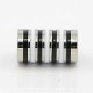 1 Magnet-Verschluss Ø 20x10mm zum Kleben - Edelstahl Hochglanz