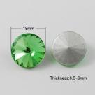 1 Glas-Rivoli Ø 18 mm - lt green