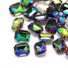 1 Glas-Rechteck Ø 18x13x5 mm - crystal vitrail med
