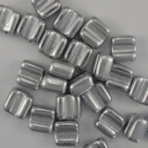#01 - 25 Stck. H-Tile Beads 6mm - crystal aluminium silver