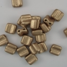 #02 - 25 Stck. H-Tile Beads 6mm - crystal aztek gold