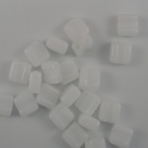 #04 - 25 Stck. H-Tile Beads 6mm - white alabaster