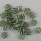#15 - 25 Stck. H-Tile Beads 6mm - tr. seafoam green