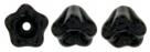 #02.01 25 Stück Glockenblumen 4x6 mm jet