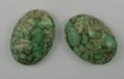 #06 - 1 Cabochon 25x18x5mm (LxBxH) -  grün gemustert