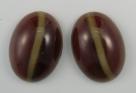 #07 - 1 Cabochon 25x18x8mm (LxBxH) - dk topaz/caramel