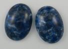 #08 - 1 Cabochon 25x17x5mm (LxBxH) -  blau gemustert