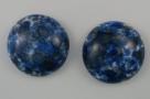 #09 - 1 Cabochon 19x5mm (LxBxH) - blau gemustert