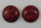 #12 - 1 Cabochon 19x5mm (LxBxH) - rot/schwarz gesprenkelt