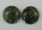 #13 - 1 Cabochon 19x5mm (LxBxH) - olive gemustert