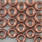 #06 25 Stck.  Glasringe Ø 9,5mm - white met. copper matt