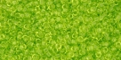 5g TOHO SeedBeads 15/0 TR-15-0004 - Tr. Lime Green