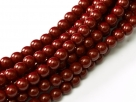 #79 1 Strang - 3,0 mm Glasperlen - cranberry/paint coating