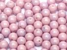 #51a - 50 Stück Perlen rund - opak white lila luster - Ø 3 mm