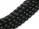 #06 - 1 Strang Perlen Ø 6*4 mm oval - black