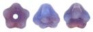 #02.07 50 Stück Glockenblumen 4x6 mm blue raspberry swirl