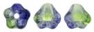 #02.09 50 Stück Glockenblumen 4x6 mm Dual Coated-Blueberry/Green