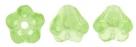 #02.11 50 Stück Glockenblumen 4x6 mm lt peridot