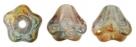 #02.14 50 Stück Glockenblumen 4x6 mm crystal/pink luster