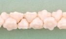 #06.02 50 Stück Button Flower 7 mm opal soft peach