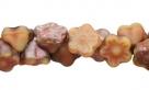 #06.04 50 Stück Button Flower 7 mm matte apollo carmel/pink