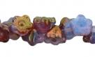 #06.06 50 Stück Button Flower 7 mm luster amethyst/crystal milky