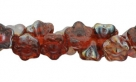 #06.18 50 Stück Button Flower 7 mm twilight-mauve