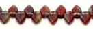 #08 - 25 Stück Blättchen  10x6 mm tr/opak rot multicolor
