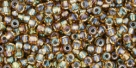 10 g TOHO Seed Beads 11/0 TR-11-0281 - Inside-Color Rainbow Topaz/Olivine Lined (E)