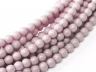 #81 1 Strang - 3,0 mm Glasperlen - lilac/paint coating