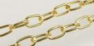 1 m Gliederkette Ø ± 20x12mm gold