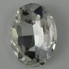 1 Glas-Oval Ø 30x20x8 mm - crystal