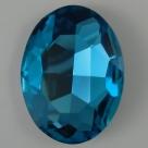 1 Glas-Oval Ø 30x20x8 mm - aquamarine