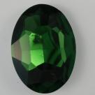 1 Glas-Oval Ø 30x20x8 mm - emerald