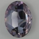 1 Glas-Oval Ø 30x20x8 mm - amethyst
