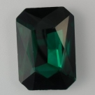 1 Glas-Rechteck Ø 27x18x4 mm - teal