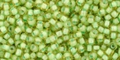10 g TOHO Seed Beads 11/0 TR-11-0945 - Inside-Color Jonquil/Mint Julep Lined (E)