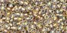 10 g TOHO Seed Beads 11/0 TR-11-0262 - Inside-Color Crystal/Gold Lined (E)