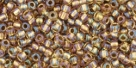 10 g TOHO Seed Beads 11/0 TR-11-0268 - Inside-Color Rainbow Crystal/Gold Lined (E)