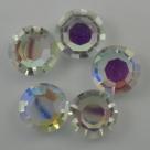 5 Stück - Crystal Rivoli 12x6 mm - Crystal AB unfoiled