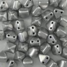 #14 - 10 Two-Hole Pyramid 6x6mm - matte met aluminium