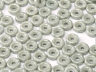 #05 50 Stck. Wheel Beads Ø 6mm - chalk white grey luster