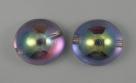 #05 - 1 Dome Bead 14x8mm - crystal silver rainbow