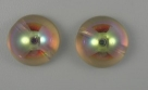#06 - 1 Dome Bead 14x8mm - crystal yellow rainbow