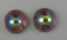 #07 - 1 Dome Bead 14x8mm - crystal brown rainbow