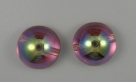 #08 - 1 Dome Bead 14x8mm - crystal copper rainbow