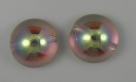 #09 - 1 Dome Bead 14x8mm - crystal lemon rainbow