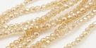 90 facetierte runde Perlen Ø 3mm lt goldenrod - galvanisiert