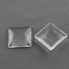 #33 - 1 Stück Glasmugle 25x25 mm crystal